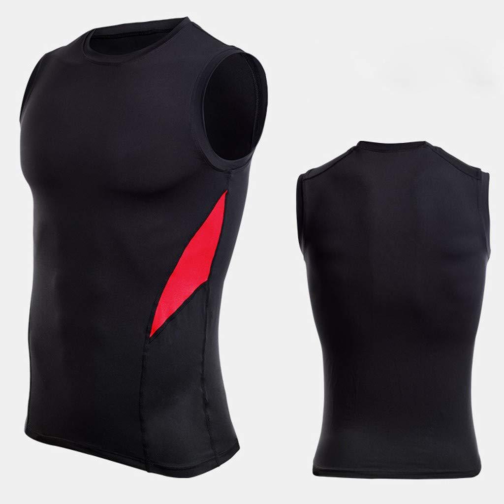 Amazon.com  Athletic Running Cycling Workout Base Layer Shirt Mens  Sleeveless Rashguard T-Shirt Bodybuilding Skin Tight-Drying Tops Black   Electronics 0c9c2ad89