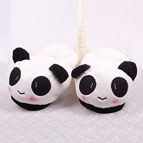 Warm Household Plush Panda lovable Home Slippers Winter Novelty Soft Indoor Antiskid wTxBIqqEY