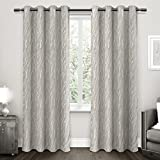 Exclusive Home Forest Hill Woven Window Curtain Panel Pair with Grommet Top 52×84 Dove Grey 2 Piece Review