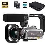 Video Camera 4K Camcorder ORDRO Real 4K Ultra HD 30FPS Digital Video Camera WiFi Recorder IR Night Vision 3.1