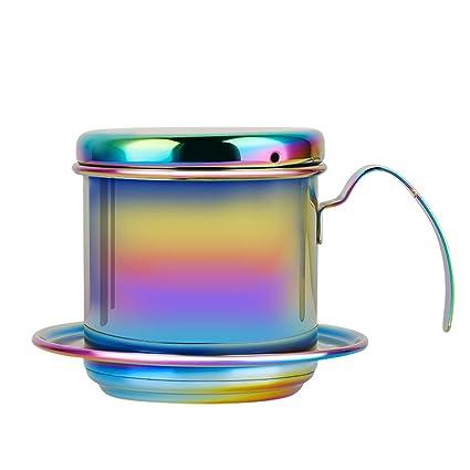 Gaeruite goteo de acero inoxidable cafetera eléctrica de goteo taza café vietnamita - Coffee Maker Pot 304 Acero inoxidable Drip Filter Kettle Cup - ...