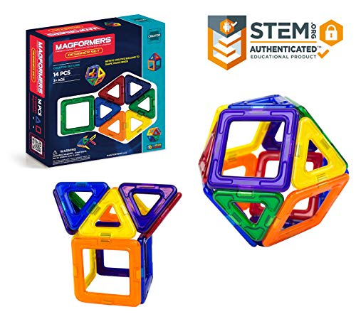 Magformers Creator Designer Set (14-Pieces) Magnetic    Building      Blocks, Educational  Magnetic    Tiles Kit , Magnetic    Construction  STEM Set