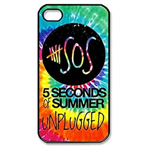 Fancy Band 5SOS 5 variety Second of Summer baby Lightweight Printed Hard from Plastic case Snap-on cover for iPhone 6 4.7- long Black 022707