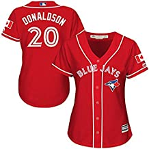 Toronto Blue Jays #20Donaldson Red Women Cool Base Baseball jersey