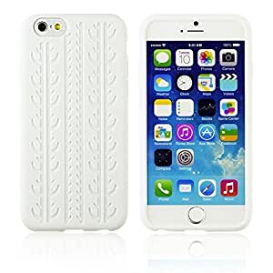 OnlineBestDigital - Tyre Style Soft Silicone Case for Apple iPhone 6 (4.7 inch)Smartphone - White