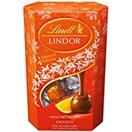 Lindt Lindor Chocolate Orange Flavor Truffles Milk Chocolate Truffles With A Smooth Melting Filling Imported From The UK England Each One Has An Irresistibly Smooth Melting Orange Flavor Center