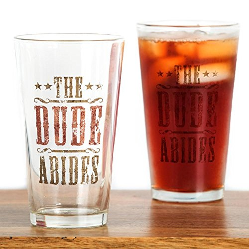 CafePress Lebowski Drinking Glass Pint