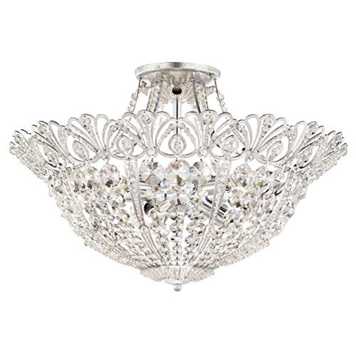 Schonbek 9843-22 Swarovski Lighting Tiara Semi Flush Mount Lighting Fixture, Heirloom Gold