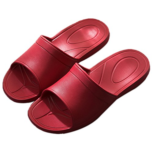 h TELLW tel Bain l¨¦ger Rouges Anti Femmes Hommes Super Pantoufles Bain de de Cool Pantoufles Slide Femme Salle rxP1nr7wq0