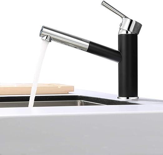 Badarmatur Küchenarmatur Ausziehbare Spültischarmatur Wasserhahn Mischbatterie
