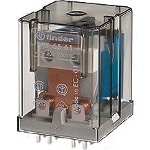 Finder 65.61.9.024.0300 SPST-NO 20A, 24V DC Coil, AgCdO Contact, Power Relay