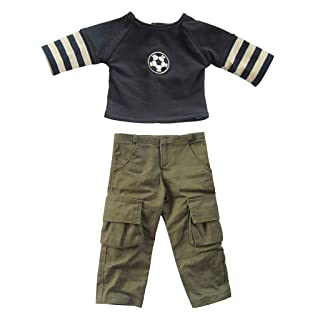 Fityle Stylish Sports Uniforms Shirt Trousers Suit for 18inch American Girl Our Generation Dolls Clothes Accessories