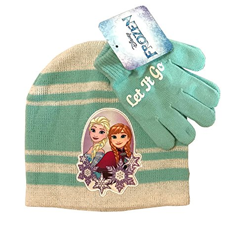 Disney Little Girl - Winter Wear - Winter Hat AND Matching Gloves - Winter Set - Little Mermaid, Minnie Mouse, Frozen, Disney Princess - Lot to Choose From (Disney Frozen - Let it Go)