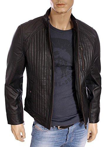 Kaporal homme - Veste en cuir Noir Kaporal Toky - Taille vêtements - S