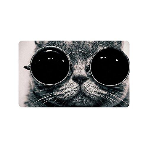 Cat Wearing Sunglasses Durable Home Indoor/Outdoor Floor Mat Doormats 30