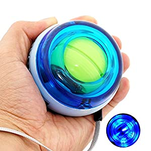 DINOKA Wrist Trainer LED Wrist Ball Powerball Gyroscopic Ball - Arm Strengthener , Wrist & Forearms Exerciser
