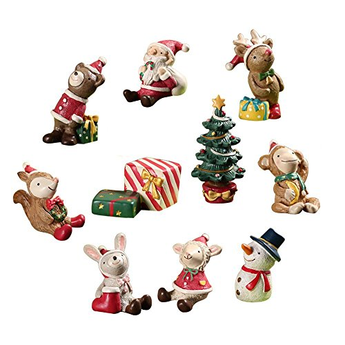 Silhouettes Early Learning Game (LOHOME Christmas Themed Dolls - Resin Toys Pack of 10 Christmas Creative Animals Home Decorations Watch The Sky Series Little Figure Playsets Home Accessories)