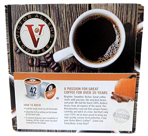 Victor Allen Coffee Single Serve K-Cup, Pumpkin Spice, 42 ()