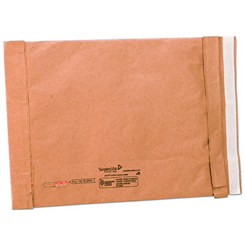 Sealed Air 65179 Jiffy Padded Self Seal Mailer, #5, 10 1/2 x 16, Natural Kraft, (Case of 25)
