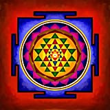 Art Factory Sri Yantra Canvas Painting Vedic Yantra 18''(w)x18''(h)