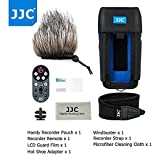 JJC 7in1 Accessory Kit for Handy Portable Recorder Zoom H6 (Protective Case+Wired Remote Controller+Deadcat Windscreen+LCD Screen Protector Film+Hot Shoe Adapter+Neck/Shoulder Strap+Cleaning Cloth)