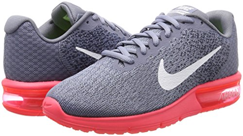 NIKE Womens Air Max Sequent 2 Running Shoe Dark Sky Blue/White/Solar Red pBSRGqqr