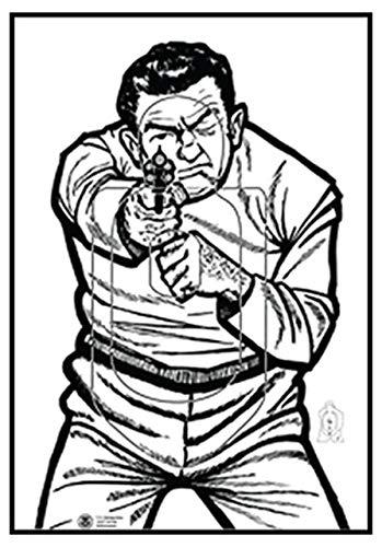 (Law Enforcement Targets ICE QT Target 2009 Version, Pack of 100, 23x35, ICE-QT ICE-QT(2009)-100)