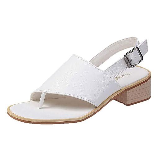 79f9f4ba840 Amazon.com  JJLIKER Women Peep Toe Flat Flip Flops Slingback Ankle Buckle  Strap Low Heel Sandals Shoes Black  Clothing
