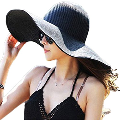Straw Floppy Foldable Beach Womens