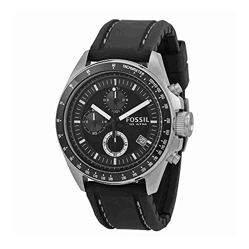 Fossil Men's CH2573 Decker Stainless Steel Chronograph Watch With Black Silicon Band by Fossil