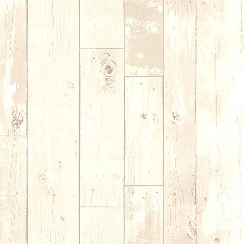Heim Distressed Wood Panel Wallpaper White Buy Online