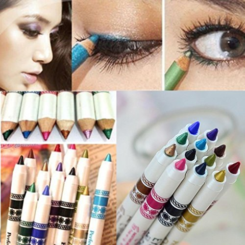 Hot Sale! Eyeliner Pen Sets,Canserin 12 Colors Eye Shadow Makeup Cosmetic Sets
