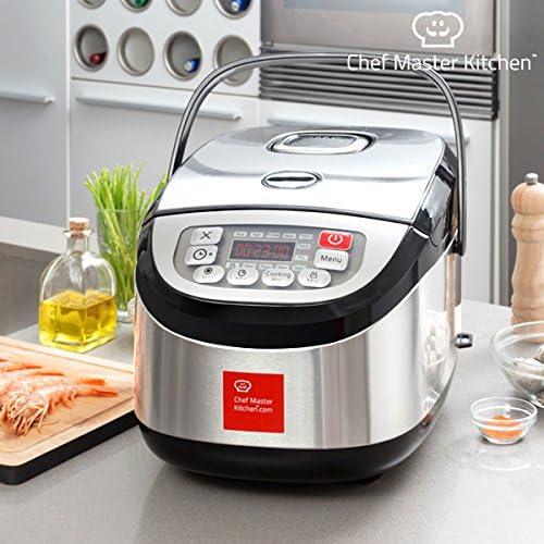 Chef Master Kitchen - Robot de Cocina Chef Master Kitchen Inox Cook 1,8 L 900W Negro acero: Amazon.es: Hogar