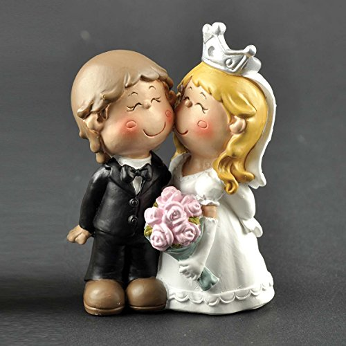 ENNAS Cute Bride and Groom Figurine Wedding Cake Topper Perfect Wedding Gifts