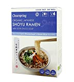 Clearspring Organic Japanese Shoyu Ramen Noodles with Soya Sauce Soup 170g - Pack of 6