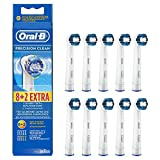 Beauty : Genuine Original Oral-B Braun Precision Clean Replacement Rechargeable Toothbrush Heads (10 x Toothbrush Heads)