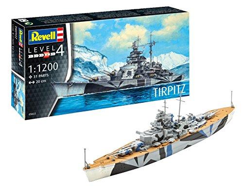 Revell Plastic Model Kit - Tirpitz German Battleship - 1:1200 Scale 05822 New -