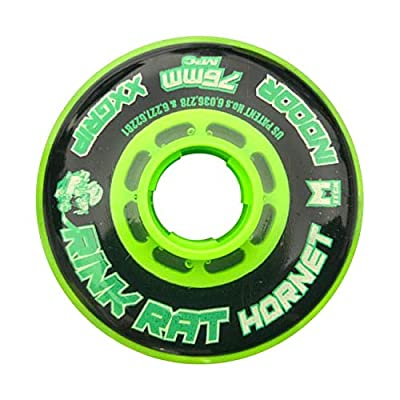 Rink Rat Single Wheel 76mm 78A Hornet XX Black/Green Inline Indoor Roller Hockey: Toys & Games