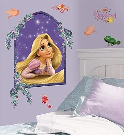 Amazon Com Disney Rapunzel Wall Mural Stickers Tangled Room Decals Home Kitchen