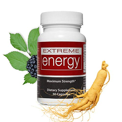 Herbal Nitro Extreme Energy - Natural Energy Pills for Stamina, Mental Alertness, All-Day Energy Booster | Natural Caffeine, Ginseng, ()