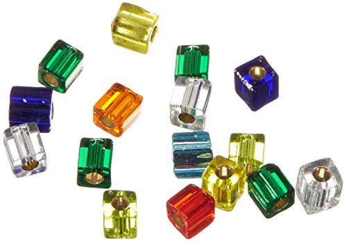 Price comparison product image Miyuki 10gm Glass Cube Bead Mix,  4mm,  Silver Lined Rainbow