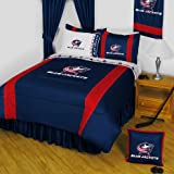 NHL Columbus Blue Jackets King Comforter Set Hockey Logo Bed
