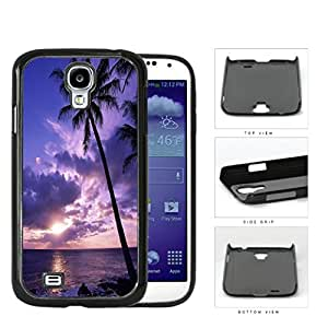 Beach Sunset Scenery With Palm Tree Silhouette Hard Plastic Snap On Cell Phone Case Samsung Galaxy S4 SIV I9500 by runtopwell