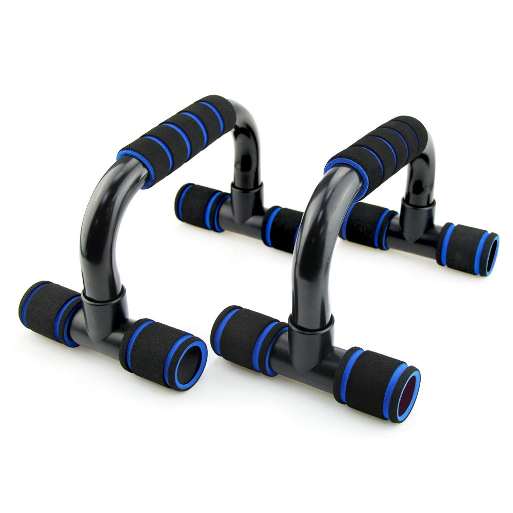 MUEUSS Push Up Bars Push up Stands, Heavy Duty Steel Handles with Cushioned Foam Grips & Slip Resistant Base for Muscle Ups, Pull Ups & Strength - Great for Both Men & Women Strength Workouts 1 Pair