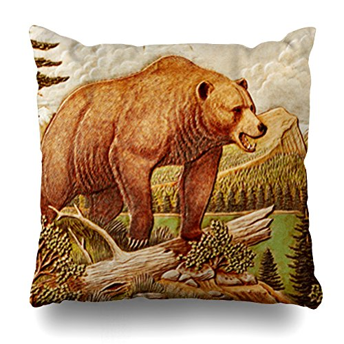 - Kutita Decorativepillows Covers 18 x 18 inch Throw Pillow Covers,Brown Bear Nature Series Leather Pattern Double-Sided Decorative Home Decor Pillowcase Garden Sofa Bedroom Car Nice Gift