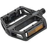 """Wellgo B087 BMX Pedals 9/16"""" Black BMX / Mountain Platform Pedals"""