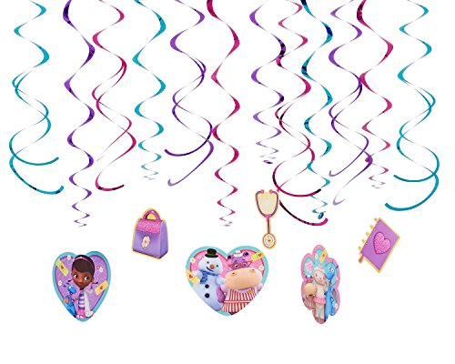 Foil Swirl Value Pack Decorations | Disney Doc McStuffins Collection | Party Accessory]()
