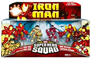 Amazon.com: Iron Man Movie Toy Super Hero Squad Battle ...