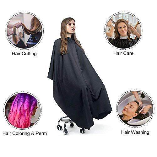 Easy4U Professional Barber Cape for Men & Women, Waterproof Hair Cutting Cape for Hair Stylist, 35.5
