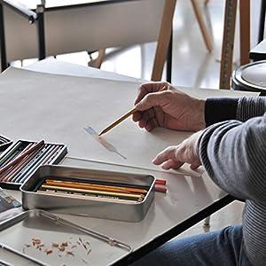 Deluxe Art Set Includes 3 Sketchbooks 150 Sheets total 10 Premium Pencils 1 Pink Eraser and 1 Single Hole Sharpener For The Ultimate Paper Kit (1 pck Drawing Set w/ 1 Staedtler Mars slide eraser)